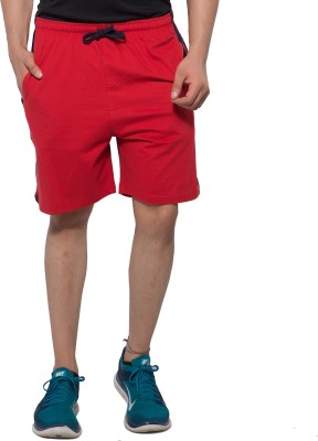 Hbhwear Striped Men's Red Night Shorts