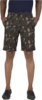 urbantouch Animal Print Men's Green, Black Basic Shorts