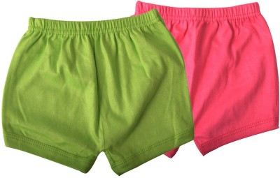 Mahadhi Solid Baby Boys Green, Pink Basic Shorts