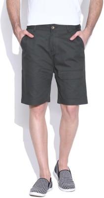 Hubberholme Solid Men's Dark Green Chino Shorts
