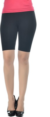 Frenchtrendz Solid Women's Black Chino Shorts