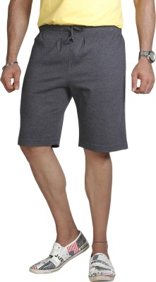 Allocate Solid Men's Black Sports Shorts, Gym Shorts