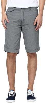 Zess Solid Men's Grey Basic Shorts