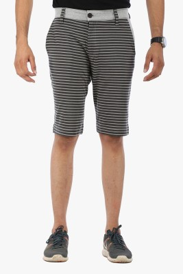 Global Nomad Striped Men's Grey Bermuda Shorts