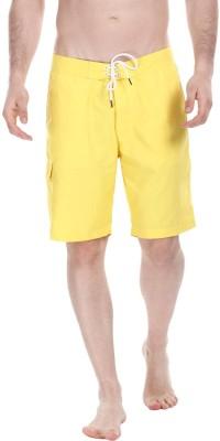 Zobello Self Design Mens Yellow Swim Shorts