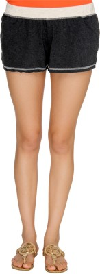 Karishma Solid Women's Black Basic Shorts at flipkart
