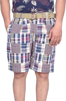 Kaaj Designs Checkered Men's Multicolor Beach Shorts