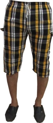 Revinfashions Checkered Men's Multicolor Night Shorts