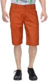 Clickroo Solid Men's Orange Chino Shorts