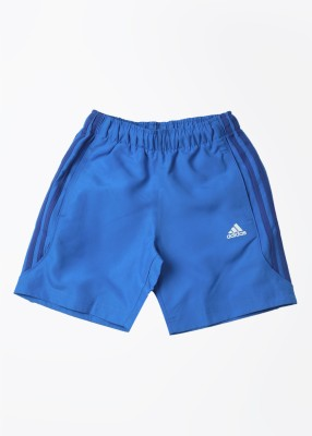 Adidas Solid Girl's Blue Sports Shorts