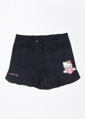 Hello Kitty Solid Girl's Blue Basic Shorts