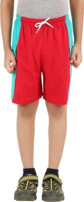 Meril Solid Boy,s Dark Blue, Red Basic Shorts