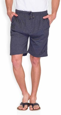 Park Avenue Solid Men's Grey Basic Shorts