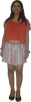 CARMINO CASUALS Striped Women's Multicolor Baggy Shorts