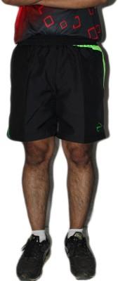 SPINART Printed Men's Black Sports Shorts, Running Shorts, Gym Shorts