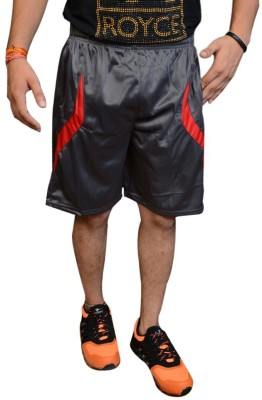 Jarwal Collection Self Design Men's Grey, Red Basic Shorts
