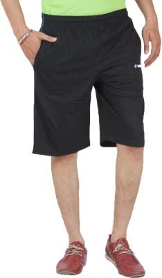 Sapper Striped Men's Black Gym Shorts