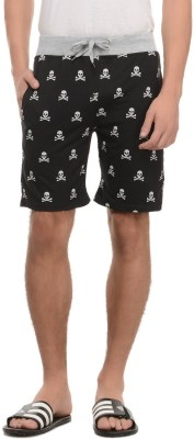 Rose Taylor Printed Men's Black Basic Shorts