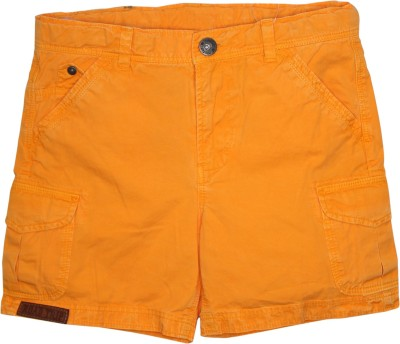 FS Mini Klub Printed Boy's Yellow Basic Shorts