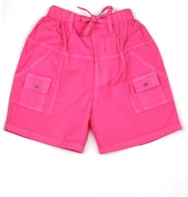 AJ Dezines Self Design Baby Boy's Pink Basic Shorts