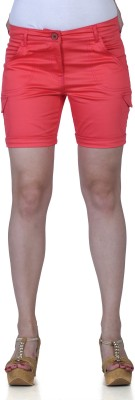 Fast n Fashion Solid Women's Red Hotpants