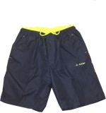 Athlet Solid Men's Green Basic Shorts