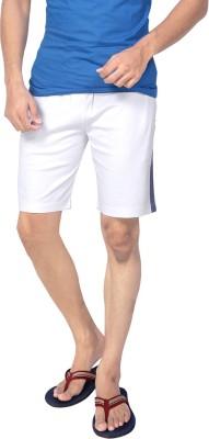 Allocate Solid Men's White Gym Shorts, Night Shorts, Running Shorts, Sports Shorts
