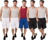 Meebaw Self Design Men's White, White, B...