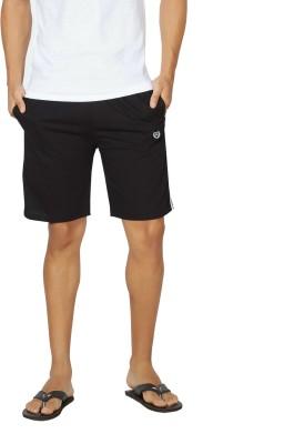 Alan Jones Solid Men,s Black Bermuda Shorts, Gym Shorts, Night Shorts, Beach Shorts, Running Shorts, Sports Shorts