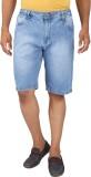 Magneto Solid Men's Blue Denim Shorts