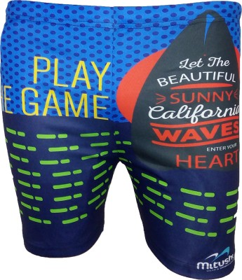 Mitushi Products Printed Men's Blue Swim Shorts