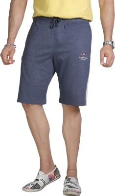 Allocate Solid Men's Blue Gym Shorts, Night Shorts, Running Shorts