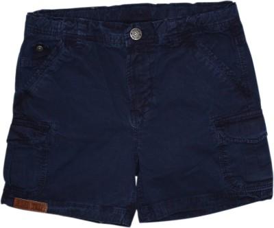 FS Mini Klub Printed Boy's Blue Basic Shorts