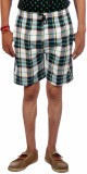 Aaduki Checkered Men's Multicolor Bermud...