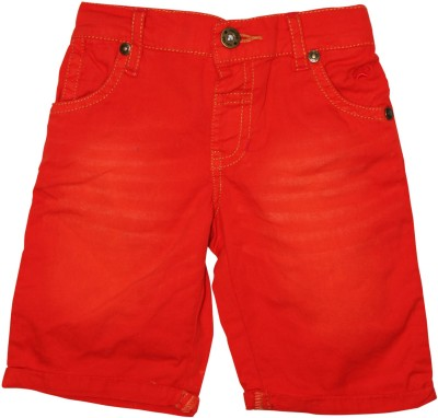 FS Mini Klub Short For Boys(Red, 3 - 4 Years, Pack of 1)