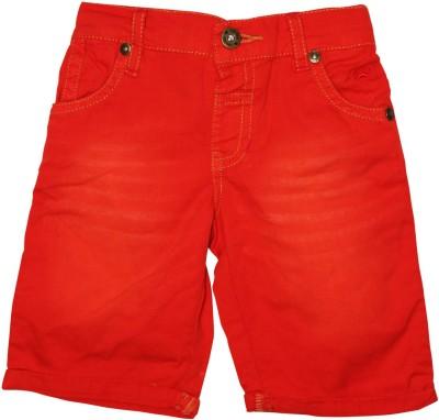 FS Mini Klub Solid Boy's Red Basic Shorts