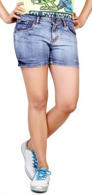 Klorophyl Woven Women's Blue Denim Shorts