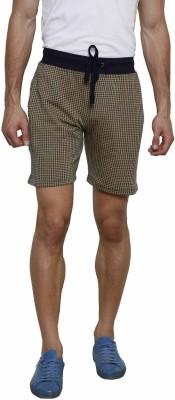 Gen Self Design Men's Brown Basic Shorts