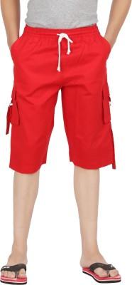 Parade Solid Men,s Red Bermuda Shorts