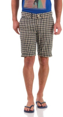 Jack & Jones Checkered Men's Blue Basic Shorts
