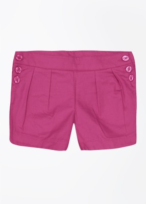 United Colors of Benetton Solid Girl's Pink Basic Shorts
