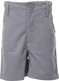 Babeezworld Short For Boys Cotton Linen Blend, Cotton Nylon Blend, Cotton Linen Blend(Grey)