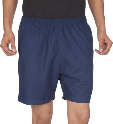 Being Responsible Self Design Men's Dark Blue Gym Shorts
