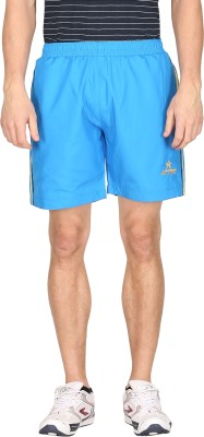 Attro Solid Men's Blue Sports Shorts