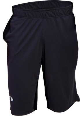 Arcley Solid Men,s Black Gym Shorts