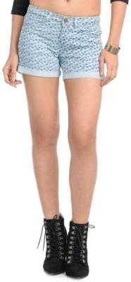 Bossini Printed Women's Multicolor Denim Shorts