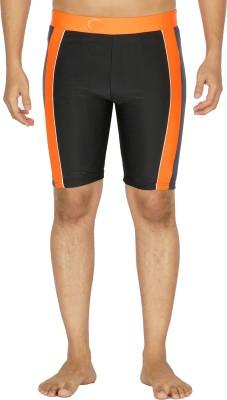 Dezire Solid Men's Black, Orange Swim Shorts