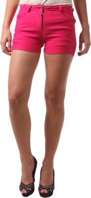 FashionExpo Solid Women,s Pink Hotpants