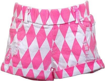 Lil Poppets Printed Girl's Pink Basic Shorts