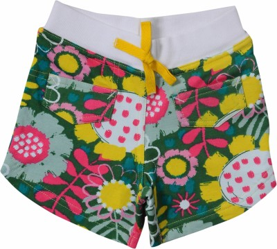 Bio Kid Printed Girl's Multicolor Beach Shorts